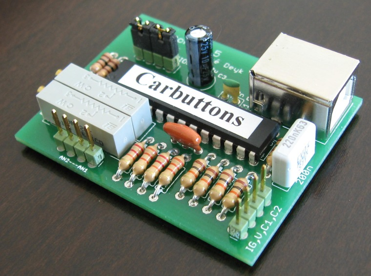 Carbuttons v1.5 PCB